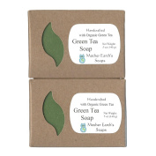 Mother Earth's Soaps Green Tea Soap with Raw Honey & Lemon Essential Oil