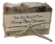 Suds By Stacy and More Orange Clove Cinnamon Homemade Soap Bar (One 120ml bar)cold processed with essential oils