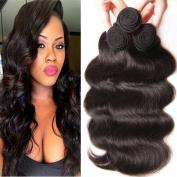 Unice Hair 4 Bundles 6A 100% Virgin Peruvian Human Hair Body Wave Weave Hair Extension with Mixed Length 95g-100g Per Bundle