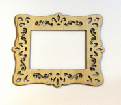 Cardinal Arts & Craft Unfinished Laser Cut Wood 5x7 Frame, Set of 4