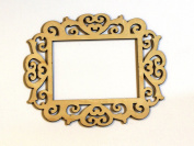 Cardinal Art & Crafts Unfinished Laser Wood 5x7 Frame, Set of 4