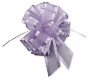 ABC-Bows - Lavender Sheer Satin Edge Pull Bows, 18 Loops, 1.6cm Width