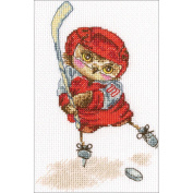Shoot The Puck! Counted Cross Stitch Kit-15cm x 16cm 14 Count