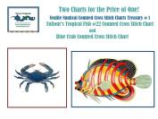 Nautical Sealife Treasury #1 Counted X stitch Chart BONUS 2 charts for price of 1