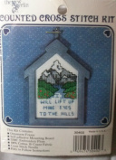 """NEW BERLIN COUNTED CROSS STITCH KIT """"WILL LIFT UP MINE EYES TO THE HILLS"""" #30402"""