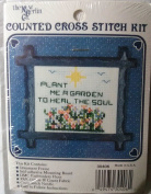 """NEW BERLIN COUNTED CROSS STITCH KIT #3O406 """"PLANT ME A GARDEN"""""""