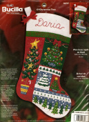 Bucilla Felt 46cm Christmas Stocking Craft Kit - O'Christmas Tree