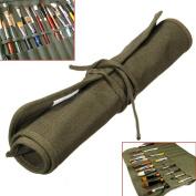 "Yosoo Canvas Artist Brush Holder Draw Pen Watercolour Oil Paint Brush Bag Roll Up Cases Holder (42x36cm) 18""X14"""