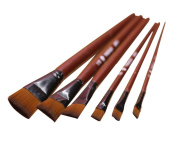 12 Pieces Brown Oil Painting Tools for Child/Painting Brushes Sets