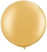 Gold Metallic 90cm Latex Balloon