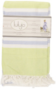 Lulujo Baby Turkish Towel, Lime Green/Blue