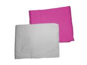 Baby Doll Bedding 2 Piece Crib Sheet Set, Hot Pink/Grey