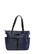 'Josie' Baby Bag / Nappy Bag - Carryall Tote - Midnight Blue