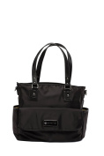 'Lisa' Baby Bag / Nappy Bag - Carryall Tote - Black