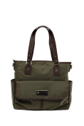 'Lisa' Baby Bag / Nappy Bag - Carryall Tote - Olive