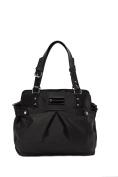 'Justine' Baby Bag / Nappy Bag - Carryall Satchel - Black