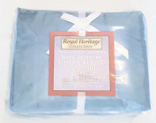 Royal Heritage Collection 100% Cotton Luxury Weight Blue Flannel Crib Blanket 90cm x 130cm