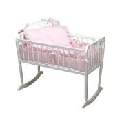 bkb Pretty Pique Cradle Bedding, Pink, 38cm x 80cm