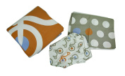 Tricycle and Polka Dots 3 Piece Crib Sheet Skirt Comforter Bedding Set