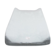 100% Organic Cotton Knit Terry Changing Pad Covers in Sky