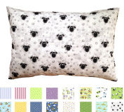 Printed Toddler Pillow (33cm x 46cm ) - Hypoallergenic - Machine Washable - Double Stitched for Extra Strength - Made in Virginia by A Little Pillow Company