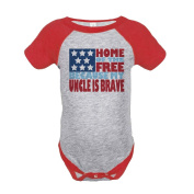 Custom Party Shop Kid's 4th of July Raglan Onepiece