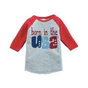 Born in the USA 4th of July Raglan Tee