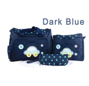 Katoot@ High quality Retail Fashion Multifunctional Nappy Mummy Bag Maternity Handbag Nappy Bags baby Tote Organiser. Dark Blue)