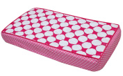 Pink, Red and White Polka Dots Quilted Changing Pad Cover
