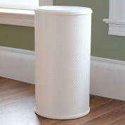 LaMont Home PVC, Polyester White Basketweave Round Hamper