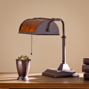 Charlotte Soft Traditional Chocolate with Warm Russet Steel Desk Lamp
