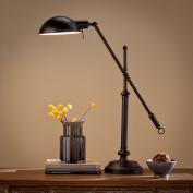 Cherida Universal Black Steel Desk Lamp