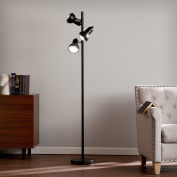 Cheryl Universal Black Steel Floor Lamp