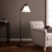 kaley Black Steel And OttLite CFL Bulb Maxbury Task Table Floor Lamp