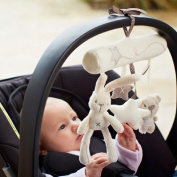 NEW! Rabbit baby music hanging bed safety seat plush toy Hand Bell Multifunctional Plush Toy Stroller Mobile Gifts