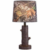 41cm Stump Accent Lamp with Mossy Oak Camo Shade, Brown