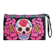 Ethnic Lanna, Lovely Clutch With Embroidered Fabric Materialand Embroidered Trim