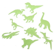 Funnytoday365 9Pcs Pack Glow In The Dark Fluorescent Decal Baby Kids Children Room Home Wall Luminous Decoration Dinosaur Stickers