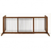 Richell Freestanding Large Pet Gate, Brown