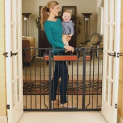 Regalo Home Accents Black 100cm Extra-Tall Baby Gate with 2 Included Extension Kits