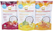 3 Variety of Pack, Delicious & Nutritious Veggie & Fruit Flavour Happy Creamies Snacks