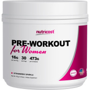 Nutricost Pre-Workout Powder for Women (Strawberry Sparkle) 30 Servings