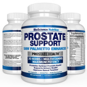 #1 Prostate Supplement - Saw Palmetto + 30 Herbs, Vitamins, Minerals to support Prostate Health - Reduce Frequent Urination - Fight Hair Loss - Libido - All Natural USA Formula - 845mg