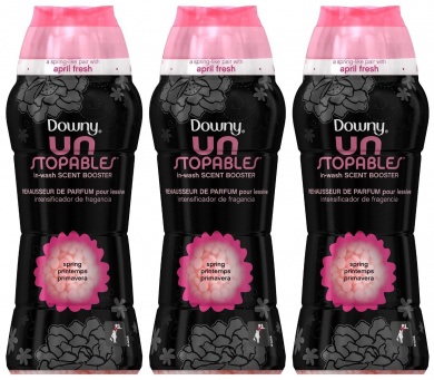 Downy Unstopables In-Wash Scent Booster, Spring, 290ml (Pack of 3)