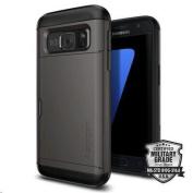Spigen Galaxy S7 Slim Armor CS Case- Gunmetal,Slim Fit,Dual Layer Protective with Card Slot Holder,