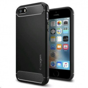 Spigen iPhone SE/5s/5 Rugged Armor Case Black,Durable Mechanical Design, Compatible with iPhone