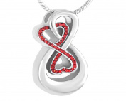 Casket Etcetera Love You Infinity Cremation Urn Necklace