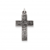.925 Sterling Silver Antiqued Latin Cross Charm Pendant