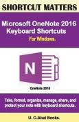 Microsoft Onenote 2016 Keyboard Shortcuts for Windows