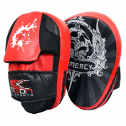 Focus Pads Hook & Jab Mitts Kick Boxing MMA Strike Punch Bag Muay Thai Curved
